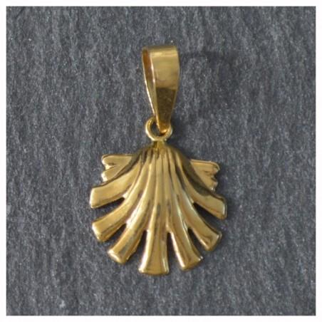 18 kts Gold Scallop Shell