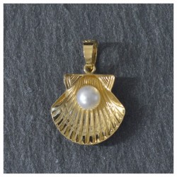 18 kts Gold Scallop Shell
