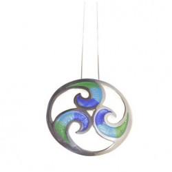Gargantilla de plata y esmalte Triskel Celta