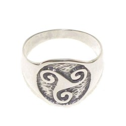 925 Silver Trisquel Ring