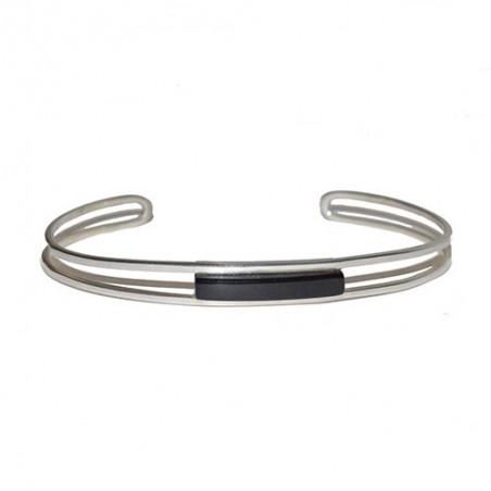 925 silver and jet modern design bracelet