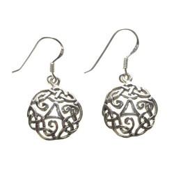 925 silver trisquel earrings