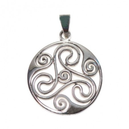 925 Silver Trisquel Pendant