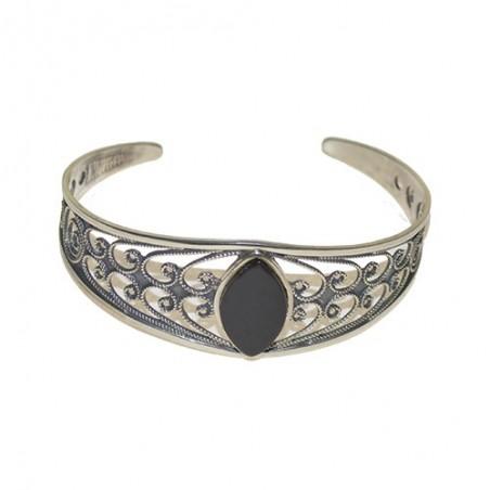 925 Silver and Jet Bracelet