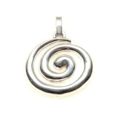 925 Silver Spiral Celtic Pendant