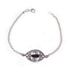 925 silver and Jet Stone Bracelet