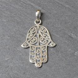 Hand of Fatima silver pendant