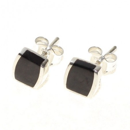 925 silver and Jet Stone design earrings