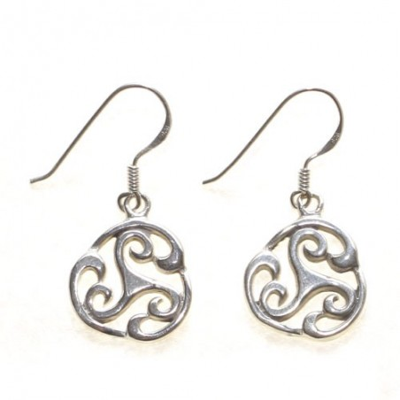925 silver trisquel earrings