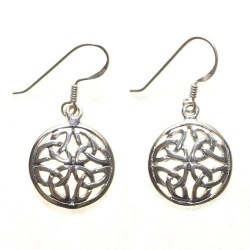 925 Silver Celtic Knot Earrings