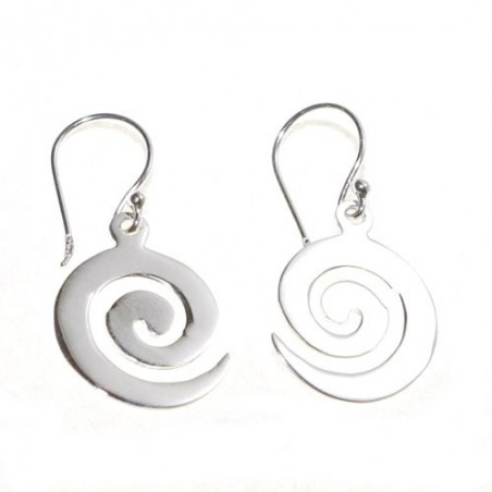 925 Silver Spiral Celtic Earrings