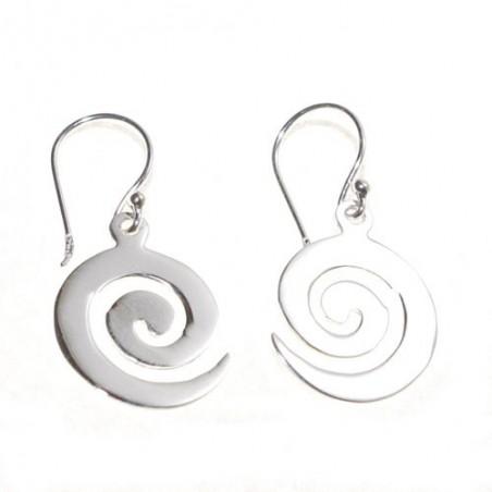 Pendientes Espiral Celta de plata