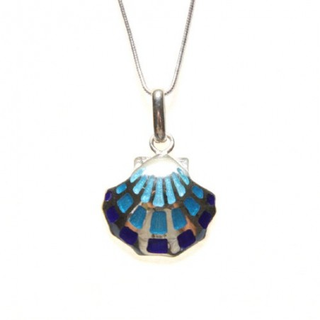 925 silver and enamel necklace
