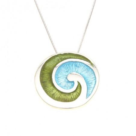 Gargantilla de plata y esmalte Espiral Celta