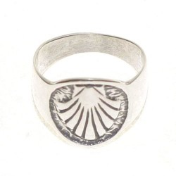Anillo de plata Concha de Santiago