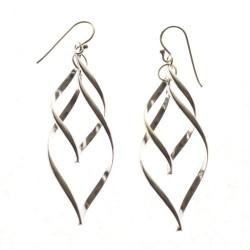 Pendientes de plata alambres