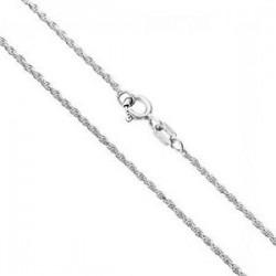 Cadena de plata cordón